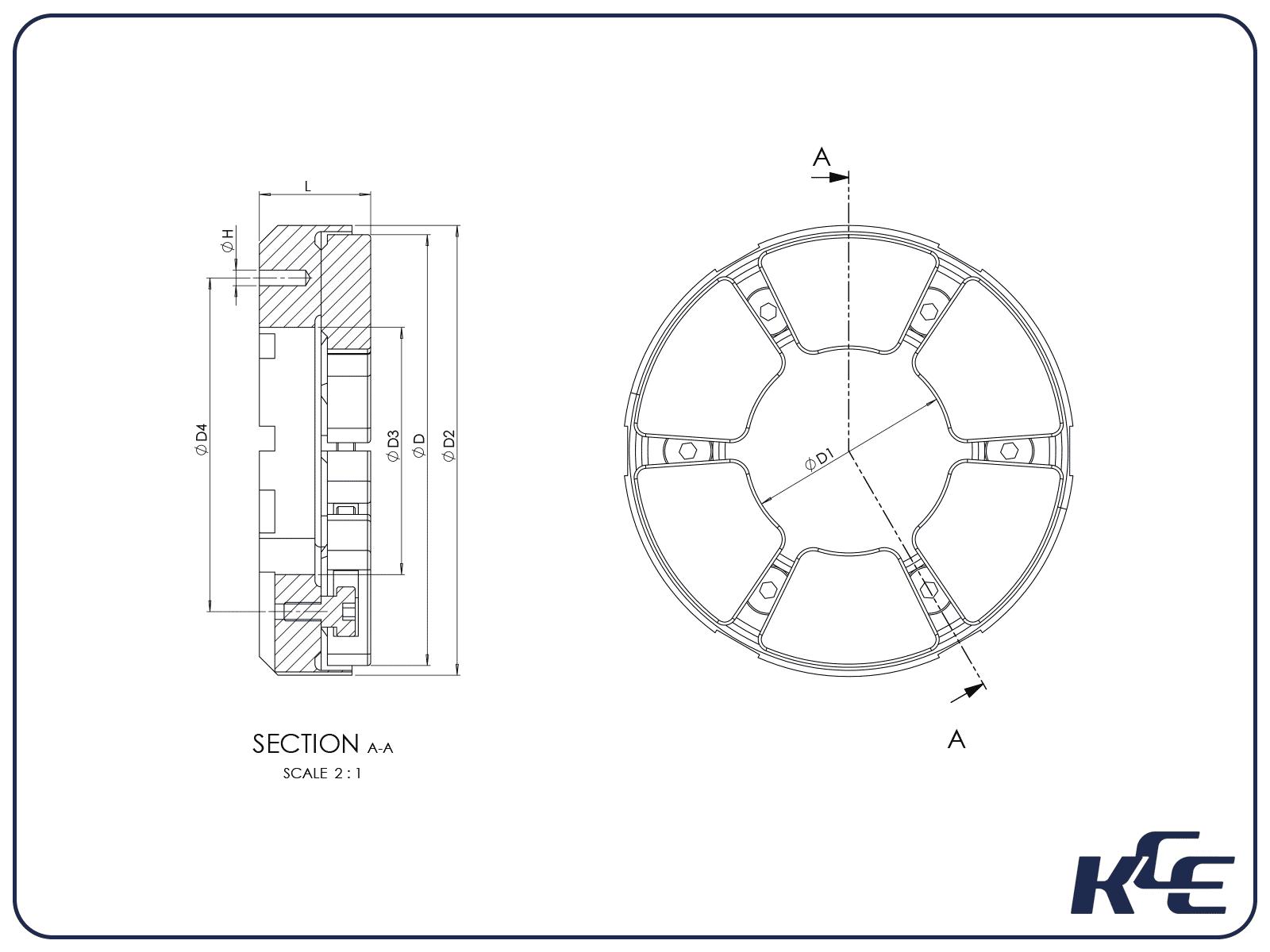 Tilt Pad Thrust Bearing - M Series