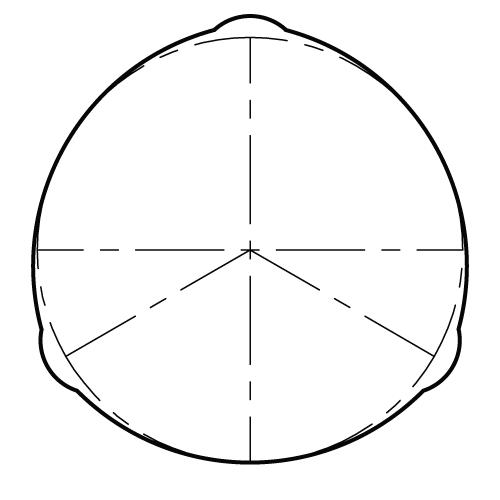 Tri-lobe